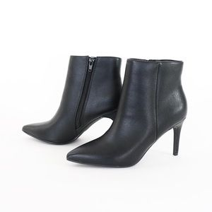 acai black pu pointy toe ankle boots booties